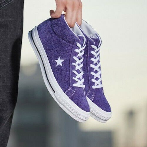 Converse ONE STAR MID Men's Leather Suede Mid Top Sneaker sz 10 - Orchid