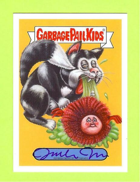 2019 GARBAGE PAIL KIDS WE HATE THE 90'S JUNGHWA IM AUTO AUTOGRAPH #0525