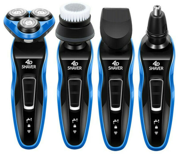 4 In1 4D Electric Razor Shaver For Mens Waterproof Cordless Rechargeable USA