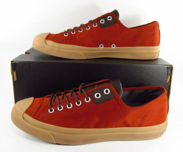 Converse Jack Purcell JP LTT OX Low Top RED-ORANGE GUM SOLE 144391C Men's 10