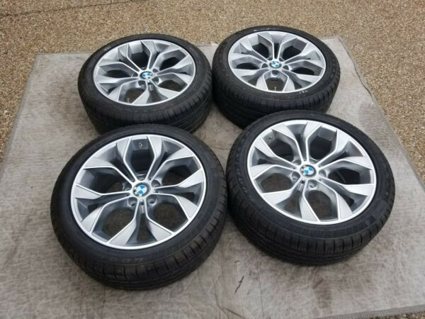 "BMW X3 & X4 NEW OEM FACTORY ORIGINAL STYLE 608 19"" WHEELTIRETPMS & CAP SET"
