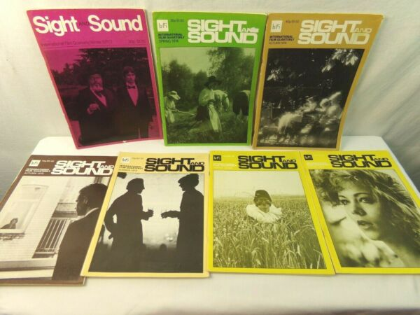 Sight  Sound Magazine British Film Insitute Back Issues Lot 7 1970s 80s Vintage