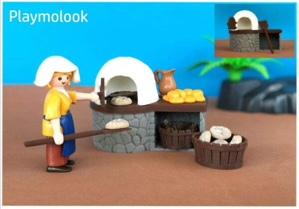 3d printed Wood oven on Playmobil scale. Playmobil figures not included. $27.00