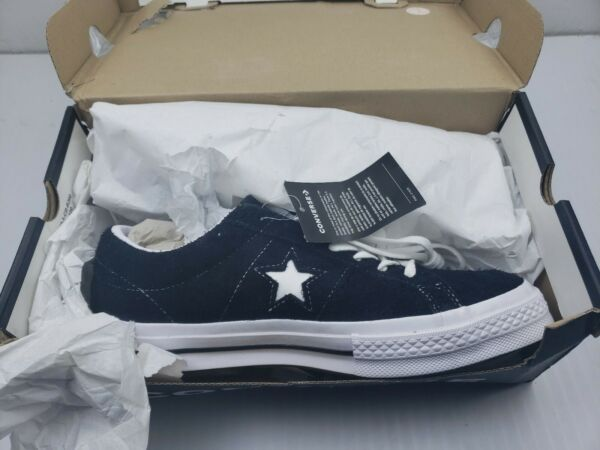 Converse One Star Black/White Suede Skateboarding Sneakers Mens 8 Womans 10