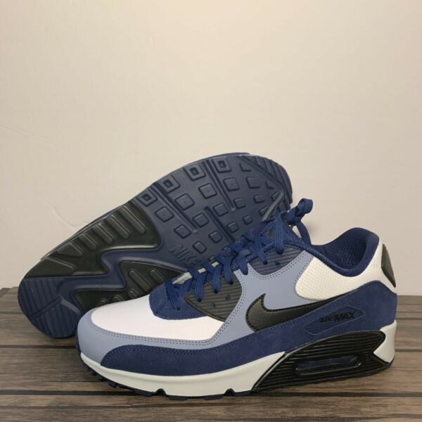 Nike Air Max 90 Leather Blue Void Ashen Slate Mens Shoes Sz 12 NEW*302519-400