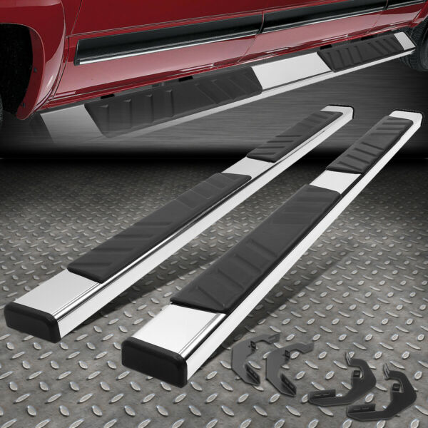 FOR 07 19 SILVERADO SIERRA EXTENDED CAB STAINLESS STEEL STEP BAR RUNNING BOARDS