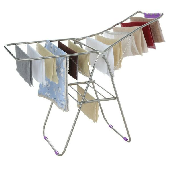 Clothes Drying Rack Laundry Stand Folding Hanger Indoor Portable Dryer Storage