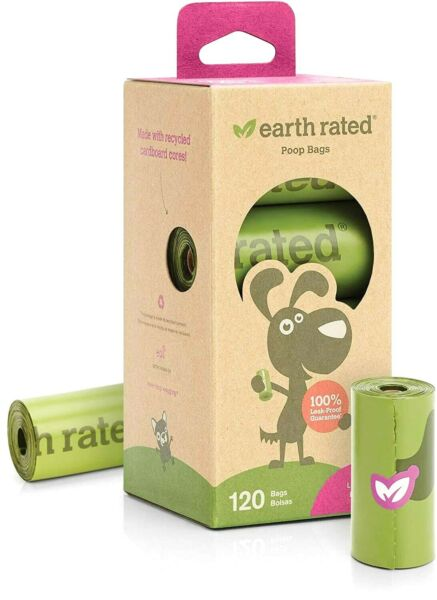 Earth Rated 120 Count Dog Waste Bags Lavender Scented Poop Bags 8 Refill Rolls $12.99