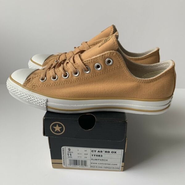Converse Shoes Chuck Taylor All Star Mens 9 Wmn's 11 Low Top Sneakers 1T583 Rum