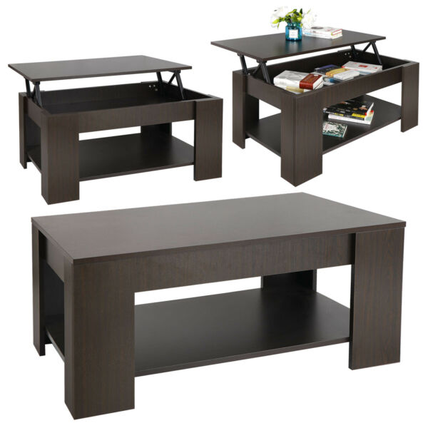 Coffee Table Lift Top w Hidden Compartment Storage Shelf Modern Home Furniture $100.99