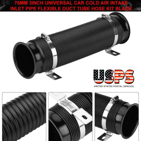 3inch 76mm Universal Car Cold Air Intake Inlet Pipe Flexible Duct Tube Hose Set