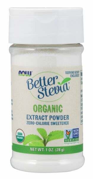 Now Foods Better Stevia Certified Organic Extract Powder 1 oz 28 g