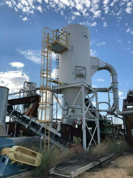 MAC Dust Collector 15000  CFM 60 HP reverse  air type slightly  used.