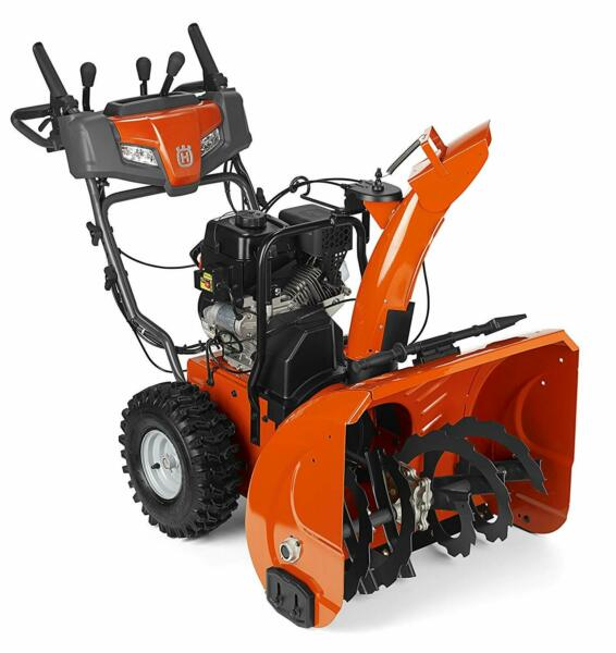 Husqvarna ST224P 208cc Two Stage Snow Thrower Electric Start w Power Steering