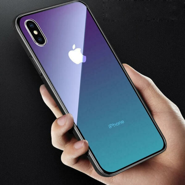 Luxury For IPhone XS MAX XR X 8 7 6Plus Ultrathin Gradient Glass Shockproof Case $9.99