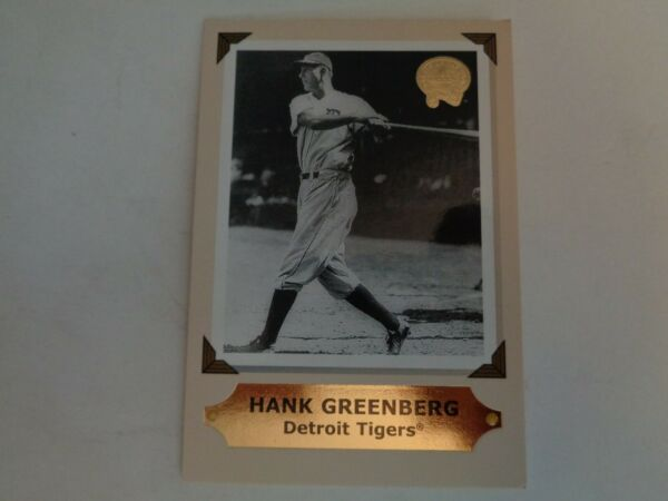 2001 Greats of the Game Retrospection Collection Hank Greenberg Card #9 of 10 RC