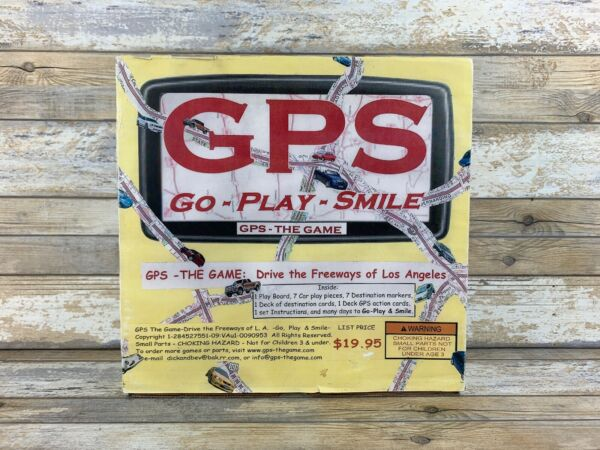 Vintage GPS Go - Play - Smile The board game  Drive The Freeways Of Los Angeles