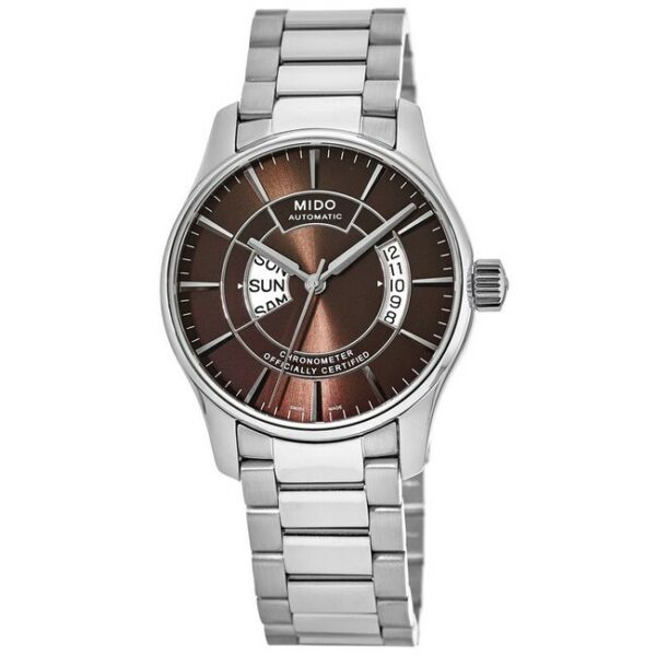New Mido Belluna Automatic Brown Dial Stainless Men#x27;s Watch M001.431.11.291.02 $394.03