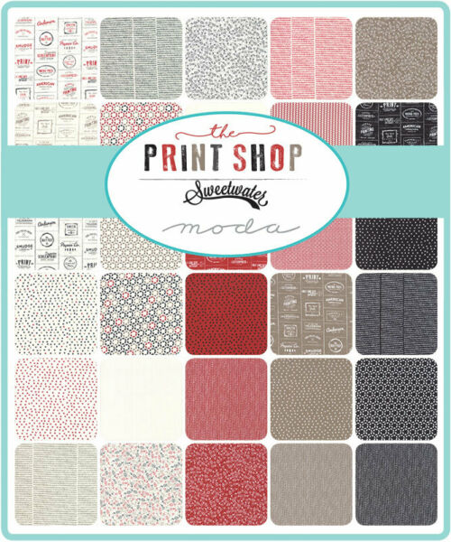 Moda The Print Shop 5quot; Charm Pack Fabric Quilting Squares 5740PP SQ05