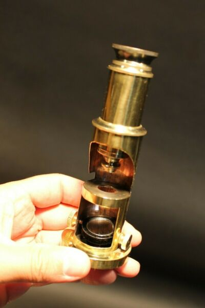 Brass Portable Microscope Antique Vintage Style
