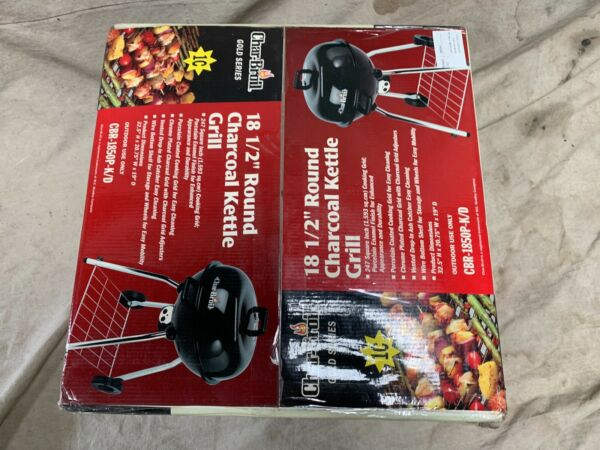 """SEALED Char Broil Gold Series 18 1 2"""" Round Charcoal Kettle Barbecue Grill A25"""