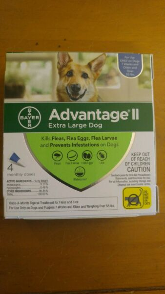 Bayer Advantage II for Extra Large Dogs over 55 Lbs - 4 Pack - FLEA TREATMENT