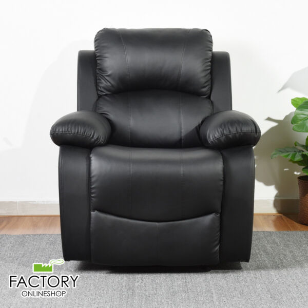 Modern Leather Recliner Chair Single Couch Reclining Sofa Zero Gravity Lay Flat $199.96