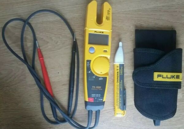 FLUKE T5-1000 Voltage Continuity Current Electrical Tester wHolster