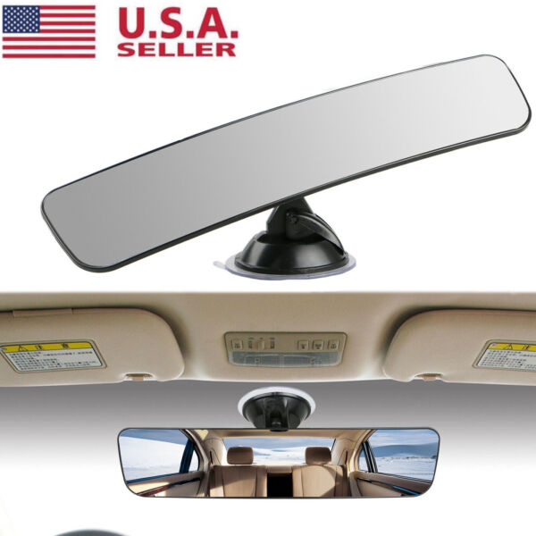 Universal Rear View Mirror Glass Suction Cup Stick On Interior Wide Car Truck US $8.79