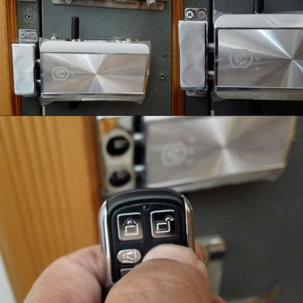 Wireless Electronic Remote Control Door Lock Anti-theft Home Security + 4 Remote