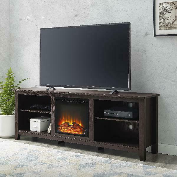 Electric Fireplace Traditional Console TV Stand for TVs up to 78 inches Espresso