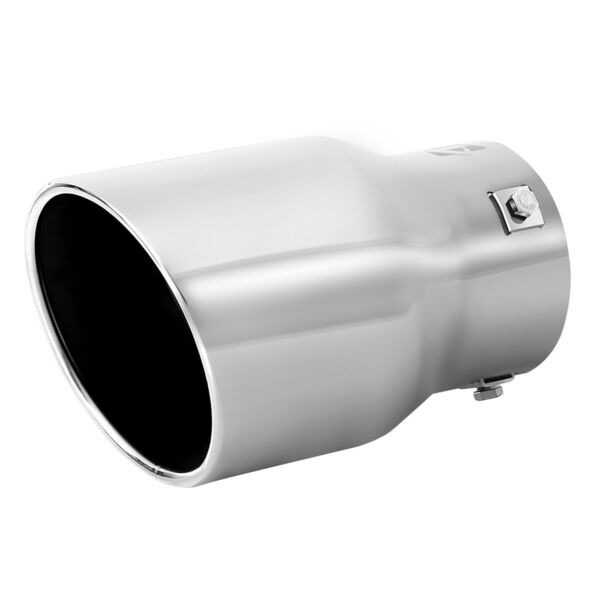 Car Muffler Tip Exhaust Pipe, Stainless Steel Chrome Effect, Fit 2.5 - 3 inch ⌀