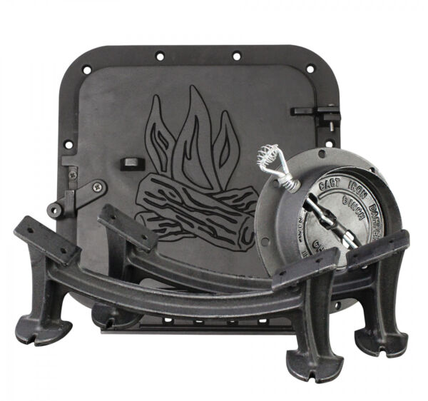 Barrel Stove Conversion Kit Heater Cast Iron for 36 or 55 Gallon Steel Drum New