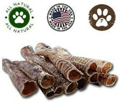 Top Dog Chews 12quot; Trachea 7 Pack Free Range USA $21.95