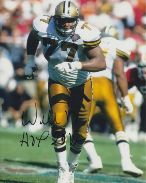 Willy Roaf WHOF 2012 #0  8x10 Signed Photo w COA New Orleans Saints