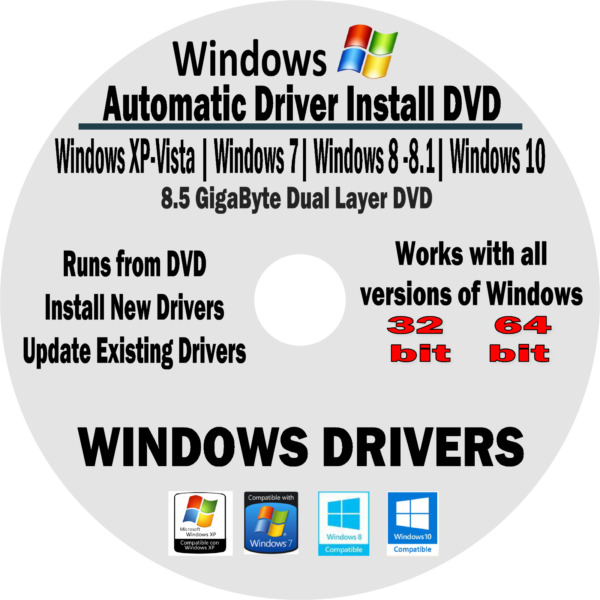 Automatic Driver Installation Recovery Disc for Windows 10 8 7 Vista XP  PCs $11.98