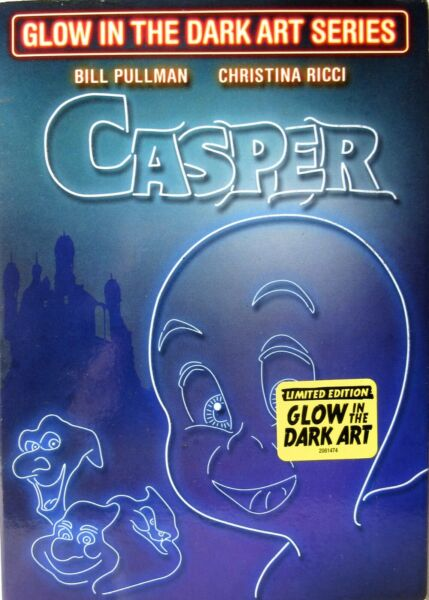 CASPER DVD Slipcover with Limited Ed. Glow In The Dark Art gt;SEALEDlt; $8.95
