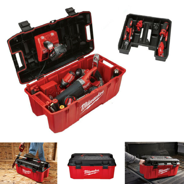 Tool Box 26in Jobsite Work Lockable Lid Portable Tools Storage Transporting Box