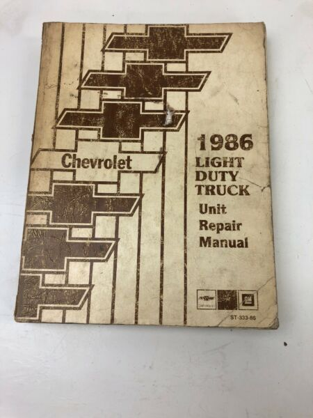 1986 CHEVROLET LIGHT DUTY TRUCK UNIT REPAIR SHOP MANUAL  ORIGINAL BOOK