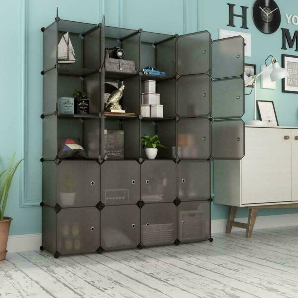 Multi Cube Stackable Storage Organizer Shoes Clothes Shelving Rack Closet