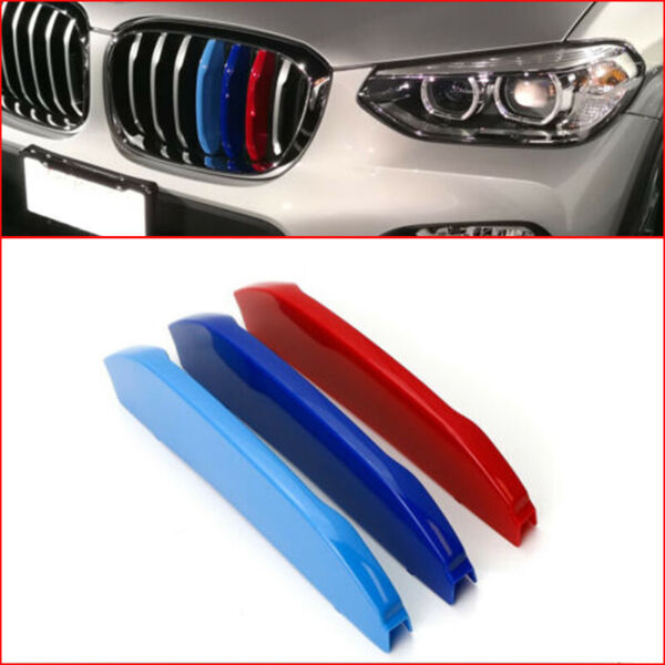For 2018-up BMW G01 X3 w 7 Standard Grille Beams M-Color Grille Insert Trims