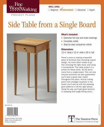 Fine Woodworking#x27;s Side Table from a Single Board Plan