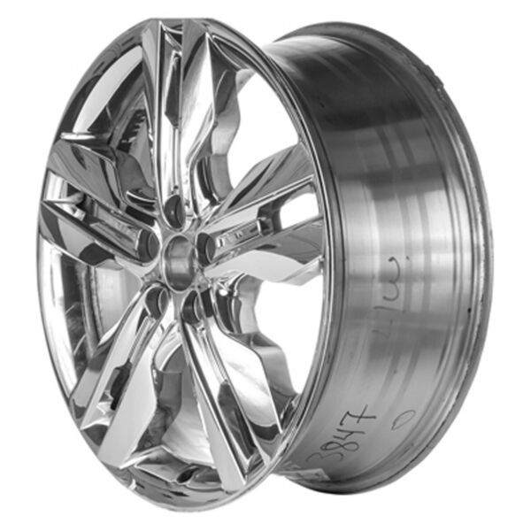 03847 New Replacement Chrome Cladded 20in Wheel Fits 2011-2014 Ford Edge