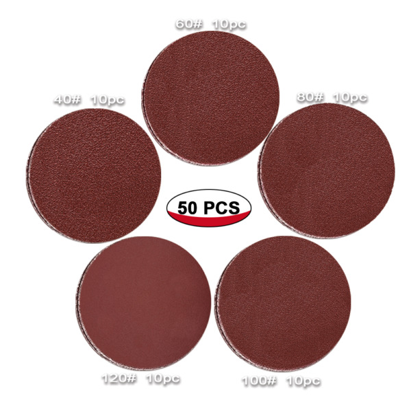 50pcs 7INCH 406080100120 Grit Sanding Disc No Hole with Hook