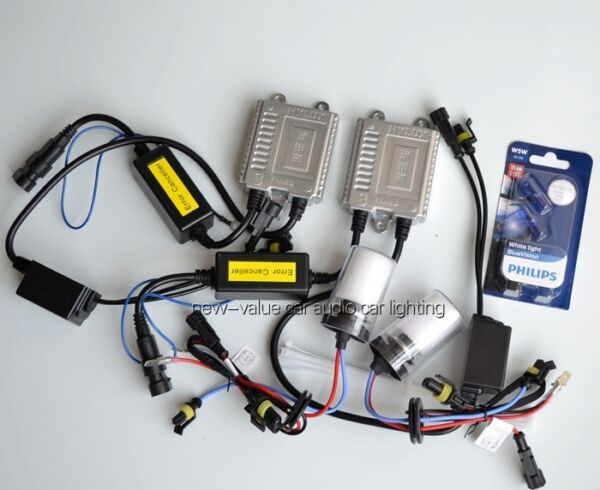 (CAN-BUS) 9005(HB3) 6000K Germany ASIC chip HYLUX Xenon HID  kit+PHILIPS T10