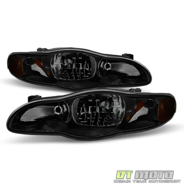 Black Smoke 2000 2005 Chevy Monte Carlo Headlights Aftermarket 00 05 LeftRight $138.99