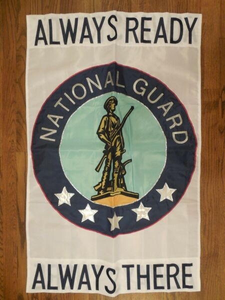 NATIONAL GUARD ALWAYS READY ALWAYS THERE USNG Military applique HOUSE flag