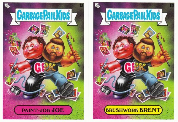 GARBAGE PAIL KIDS PHILLY SHOW PROMOS 1 AB JOE SIMKO AND BRENT ENGSTROM RARE GPK
