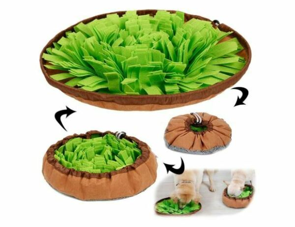 Needoon Dog Puzzle Toys Pet Snuffle Mat For Dogs Interactive Feed Game For Bor