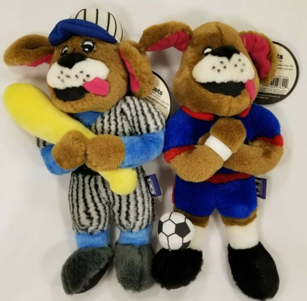 Multipet Muttscotts Baseball Soccer talking plush dog toys toy puppy puppies B12